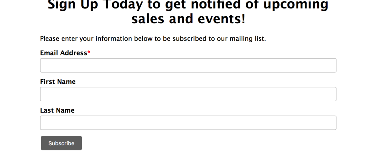 how to add two mailchimp forms to one page