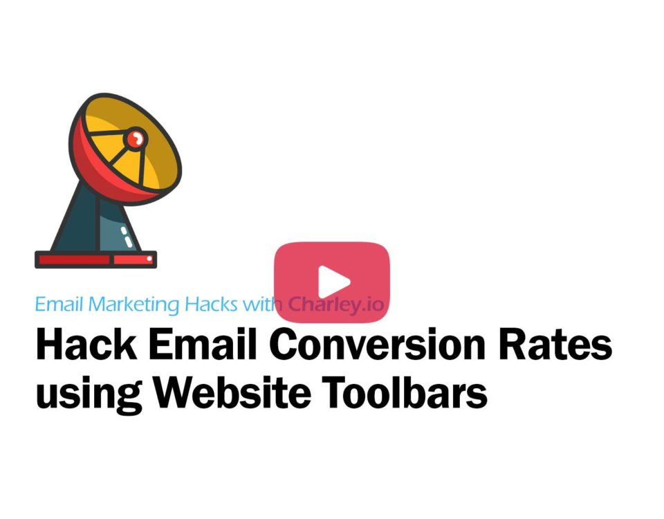 HackingEamil Conversion Rates using Website Toolbars Youtube Video